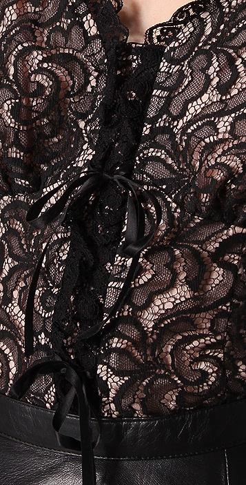 Nanette Lepore Rich Bouquet Lace Top