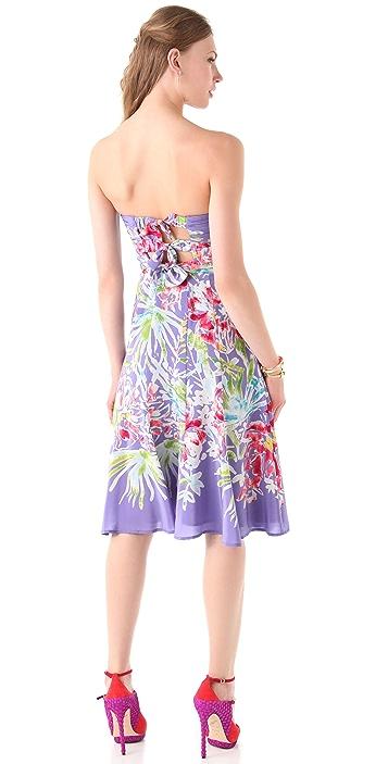 Nanette Lepore Malibu Beach Strapless Midi Dress