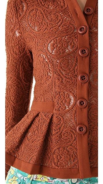Nanette Lepore Summer Flame Lace Jacket