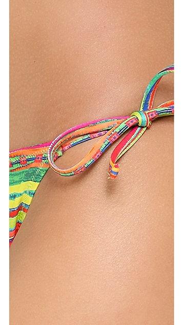 Nanette Lepore Sinaloa Stripe Bikini Bottoms