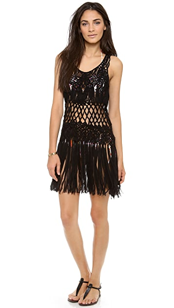 Nanette Lepore Macrame Cover Up Dress