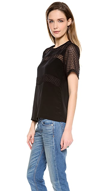 Nanette Lepore Point d'Esprit Top