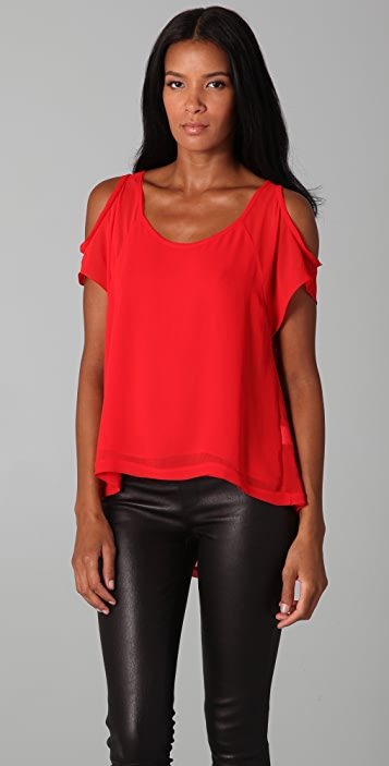 Nicholas Abbey Top with Cutout Shoulders