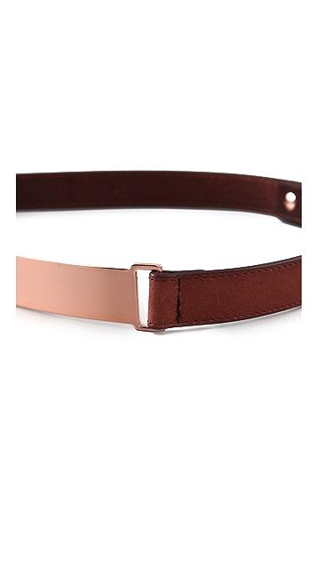 Nicholas Roxanne Thin Rose Gold Plate Belt