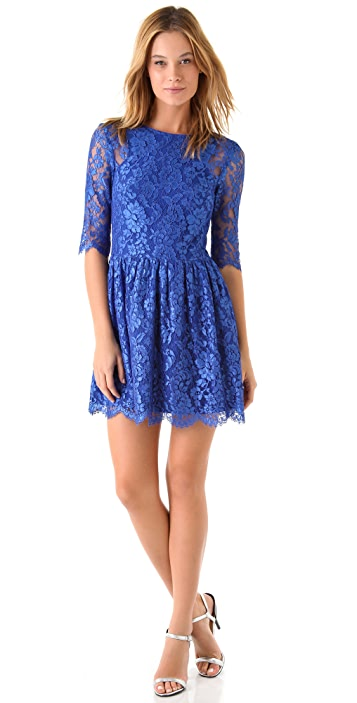 Nicholas Tia Lace Dress with V Back