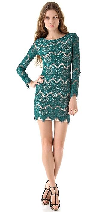 Nicholas Becky Long Sleeve Lace Dress