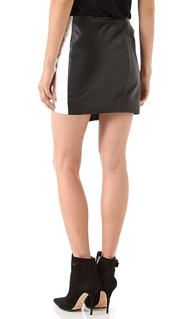 Nicholas Leather Zip Skirt