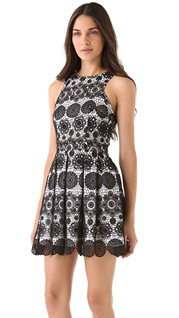 Nicholas Crochet Lace Racer Dress