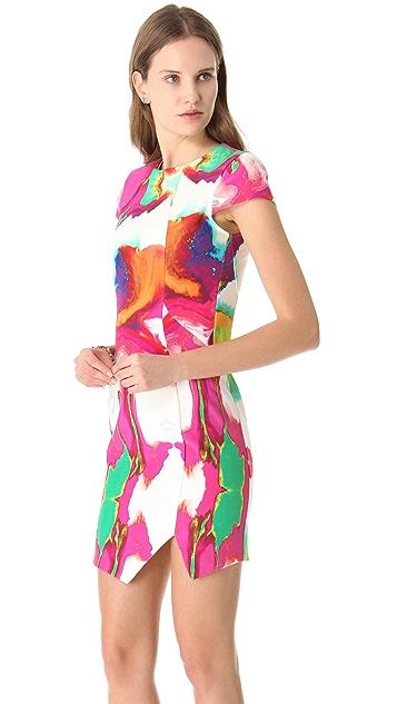 Nicholas Printed Cap Sleeve Dress