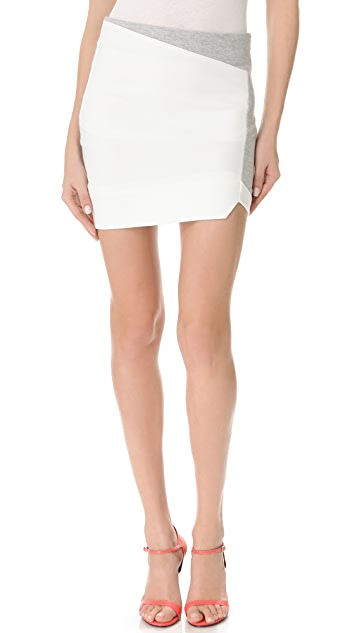 Nicholas Ponte Fleece Paneled Skirt