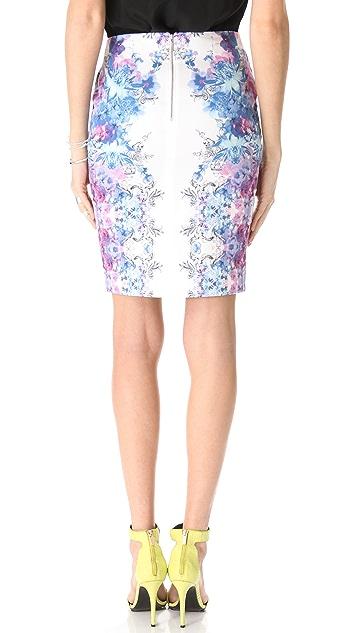 Nicholas Botanical Haze Pencil Skirt