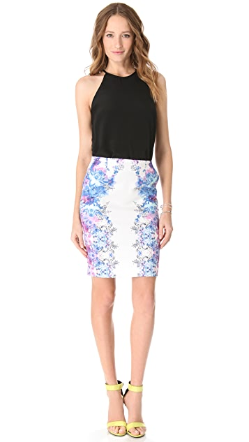 Nicholas Botanical Haze Pencil Skirt