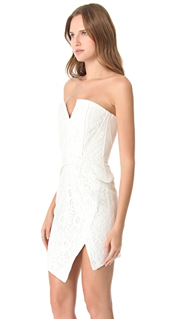 Nicholas Camellia Lace Strapless Dress