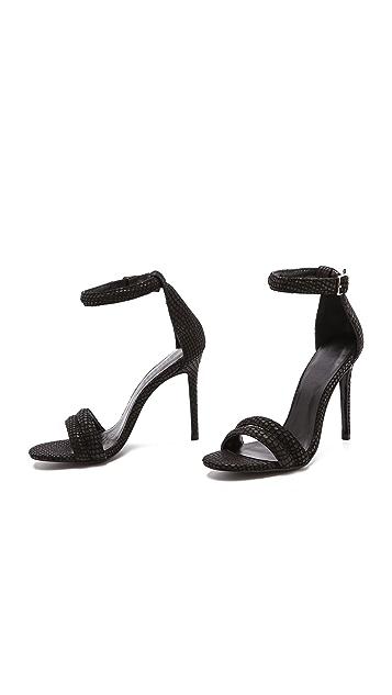 Nicholas Jocelyn Embossed Suede Sandals