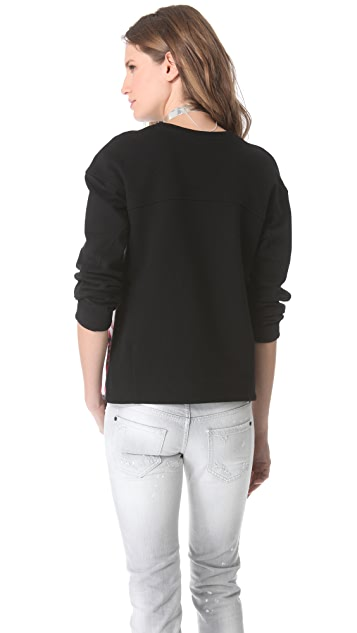 Nicholas Melted Floral Silk Sweatshirt