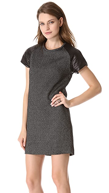 Nicholas Static Tweed Tee Dress