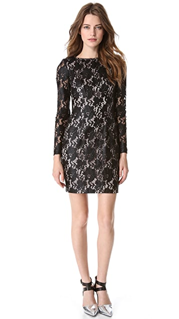 Nicholas Metallic Lace Dress