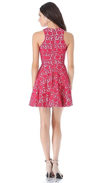 Nicholas Peony Lace Racer Dress