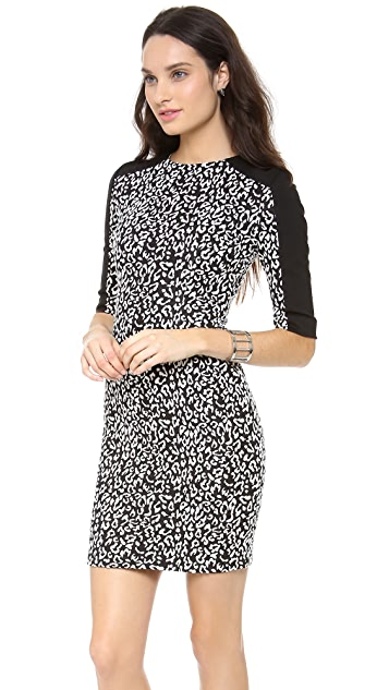Nicholas Leopard Ponte Dress
