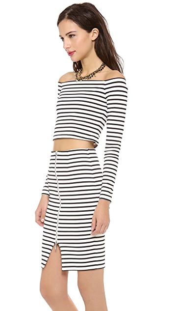 Nicholas Stripe Off the Shoulder Top