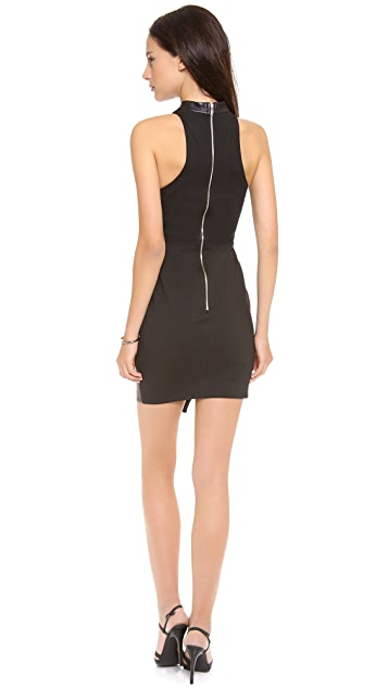 Nicholas Leather Racer Paneled Dress
