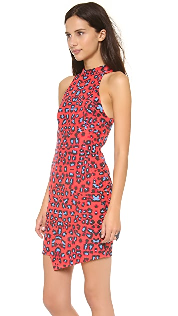 Nicholas Leopard Print Racer Dress