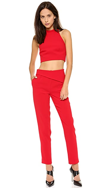 Nicholas Tailored Roll Neck Crop Top