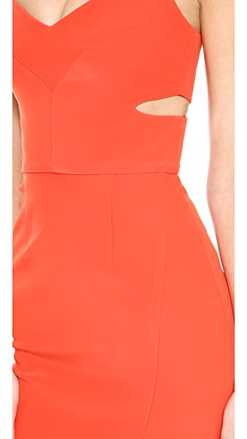 Nicholas Bonded Silk Cutout Dress