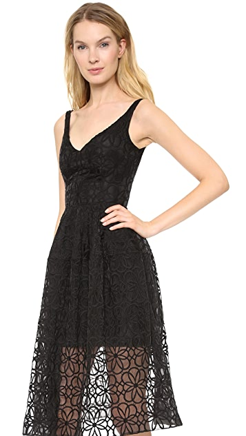 Nicholas Lace Midi Ball Dress