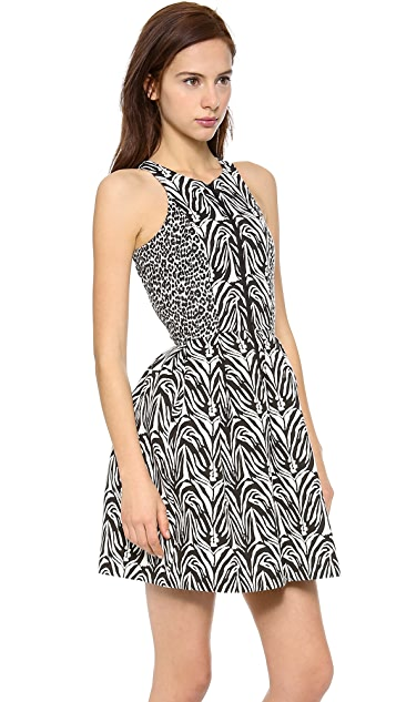 Nicholas Zebra Zip Front Dress