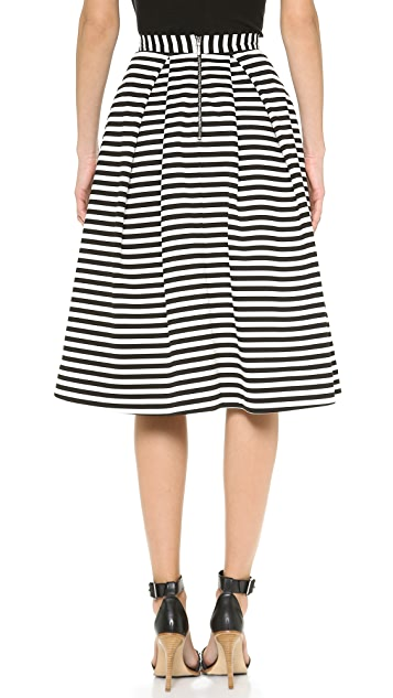Nicholas Striped Ball Gown Skirt