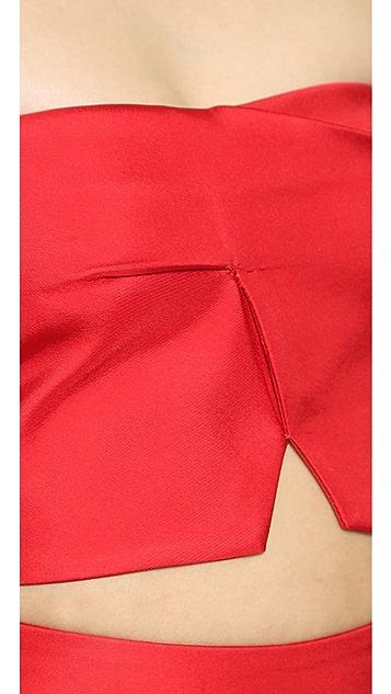 Nicholas Bonded Silk Crop Top