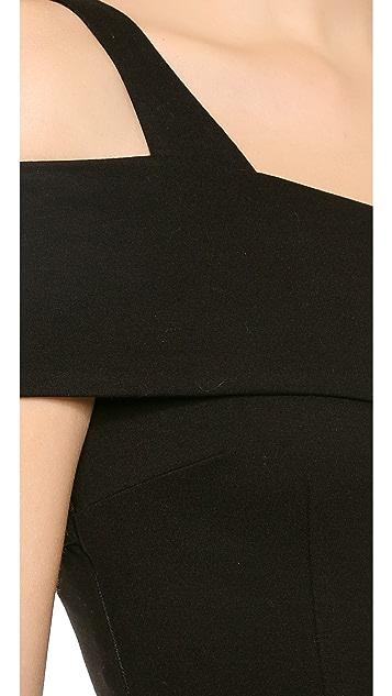 Nicholas Ponte Wrap Backless Dress