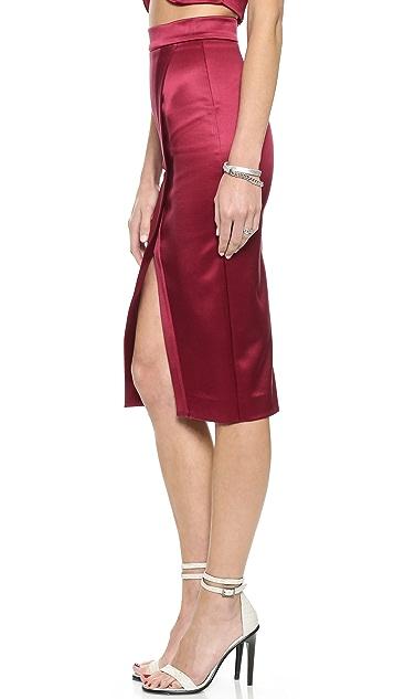 Nicholas Bonded Silk Crossover Skirt