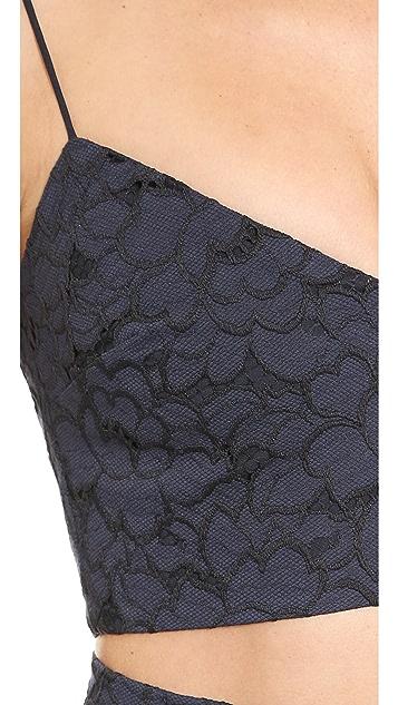 Nicholas Rose Lace Crop Top