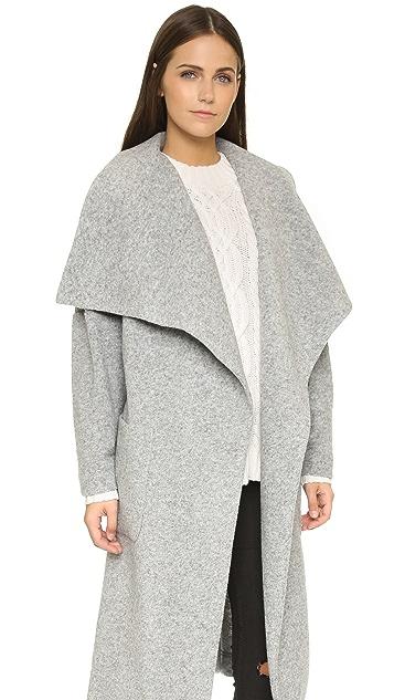 Nicholas Boiled Wool Wrap Coat
