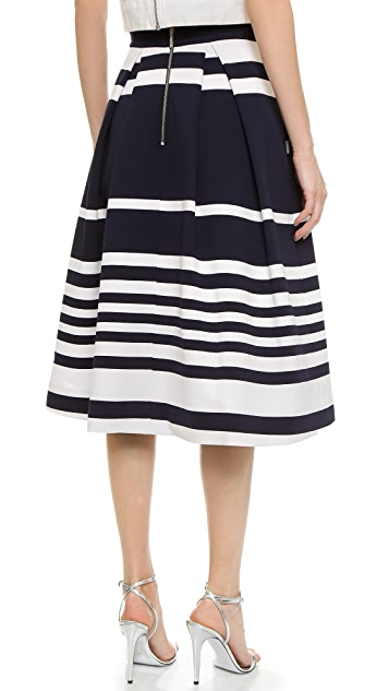 Nicholas Positano Stripe Ball Skirt