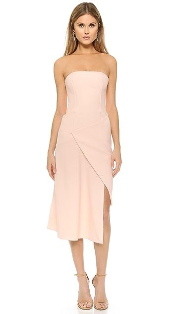 Nicholas Bonded Crepe Front Wrap Dress