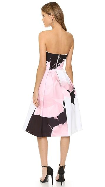 Nicholas Paint Floral Ball Dress