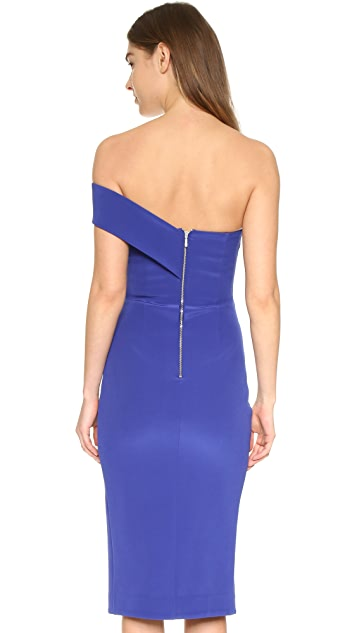 Nicholas Tech Bonded One Shoulder Dress