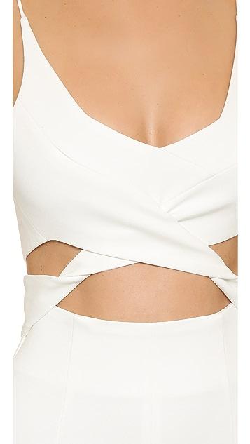 Nicholas N/Nicholas Angled Wrap Gown