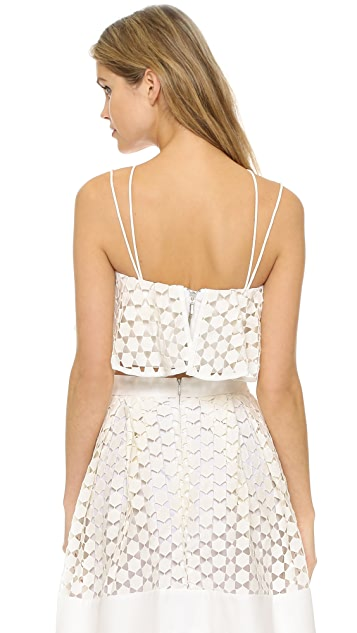 Nicholas Geo Lace Crop Top