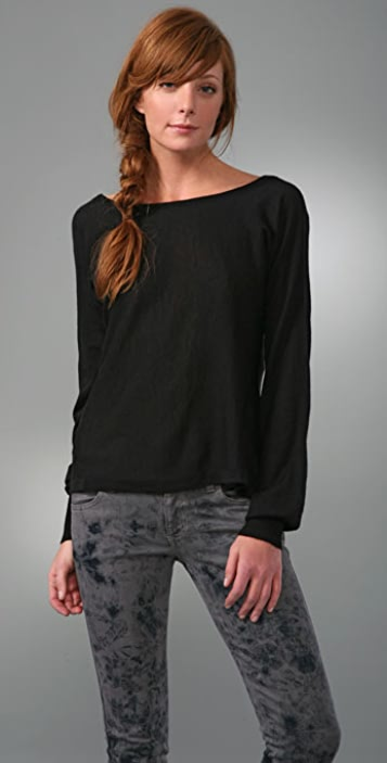 Nightcap x Carisa Rene Cashmere Drop Back Sweater