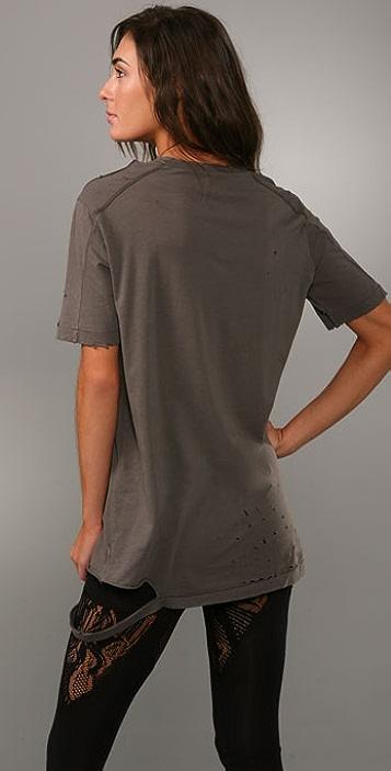 Nightcap x Carisa Rene Ripped Boyfriend Shirt