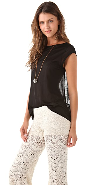 Nightcap x Carisa Rene Lace Scoop Tee