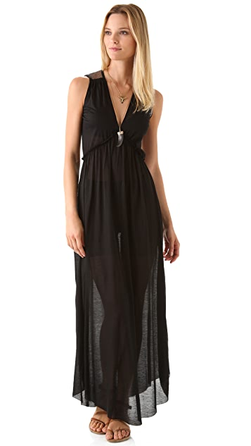 Nightcap x Carisa Rene Plunging V Maxi Dress