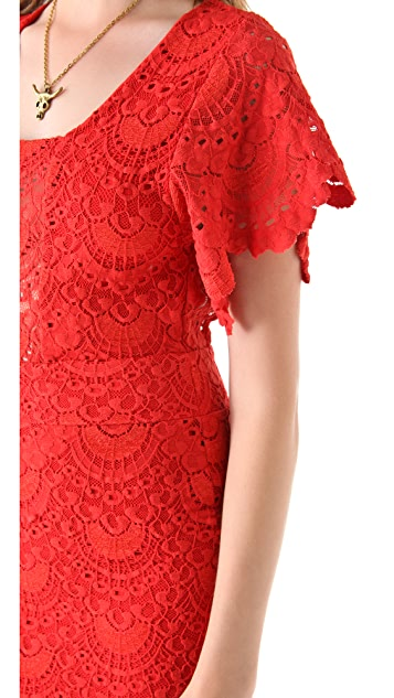 Nightcap x Carisa Rene Spanish Lace Flutter Dress