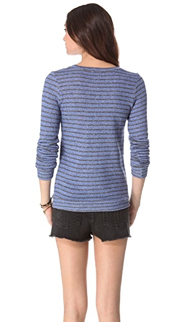 Nightcap x Carisa Rene Striped Terry Sweatshirt