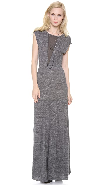 Nightcap x Carisa Rene Rib Caletto Maxi Dress