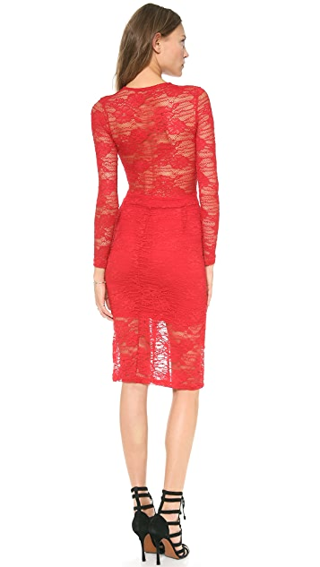 Nightcap x Carisa Rene Marigold Pencil Lace Dress